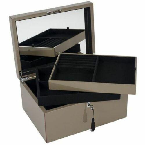 Gift Company Schmuckbox Tang mit Spiegel und Schloss Schlamm