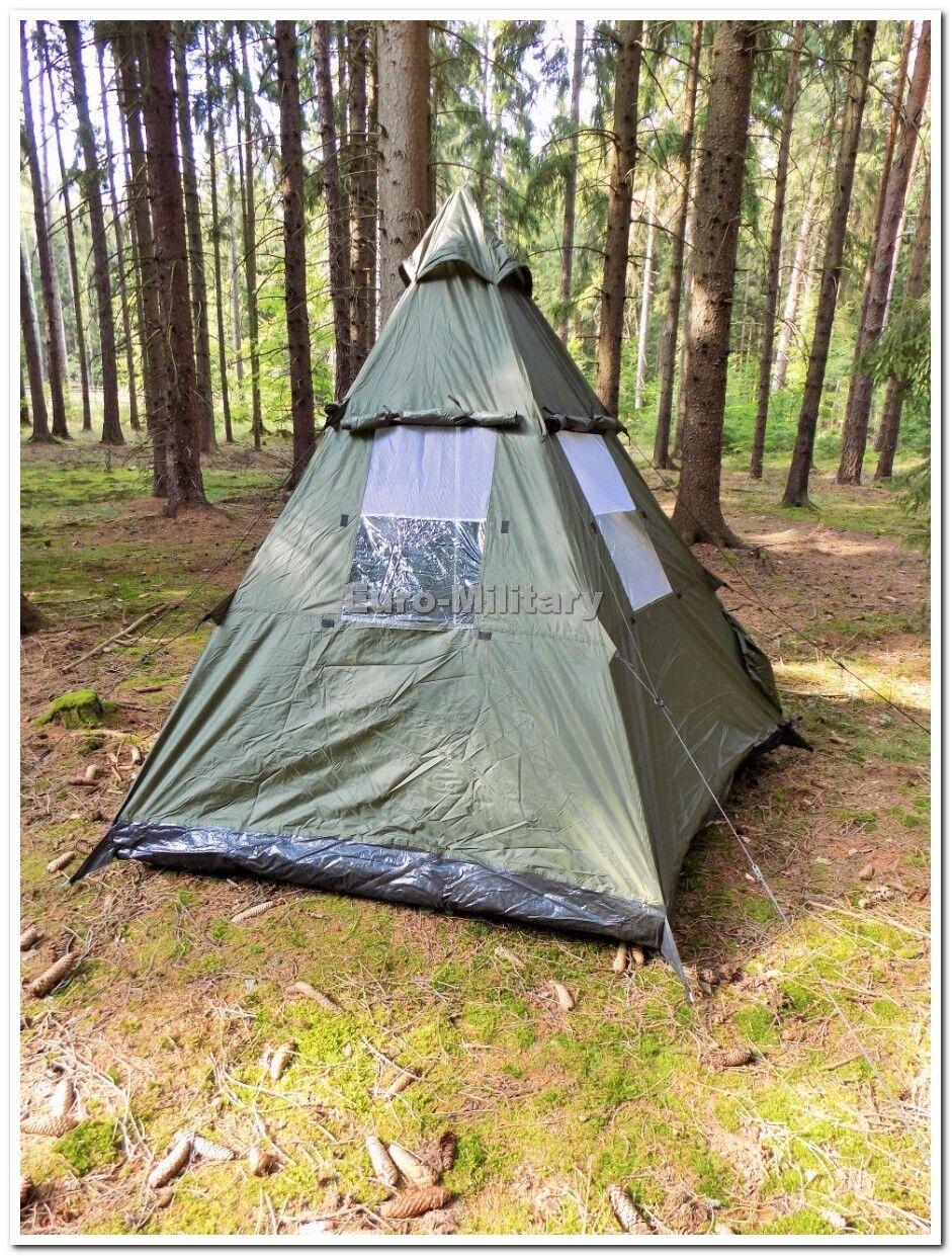 Hombre Militar Al Aire Libre 3+1 Pirámide Tipi Tipi Pirámide Tienda refugio campamento caza impermeable fdb3af