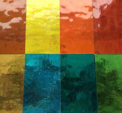 Vidrieras suministros Herramientas//Vidrio Pack 8 Colores seleccionado un brillante