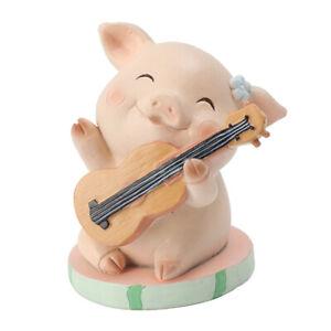 Glücksschweinchen Ornament Tier Schweine Figuren Garten Skulptur