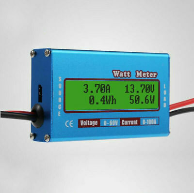 Motorrad Digital Dc 100V 10A Spannung Strom Leistungsmesser LCD Spannungsmesser