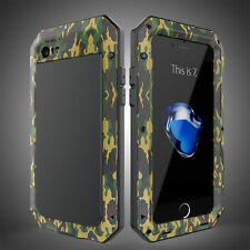 Shockproof Aluminum Metal Heavy Duty Armor Glass Cover Case for iPhone & Samsung