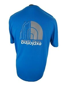 Mens-The-North-Face-T-Shirt-Blue-Large-42-Chest-Big-Back-Logo