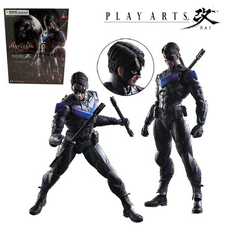 PLAY ARTS KAI SQUARE ENIX NO.6 NIGHTWING ARKHAM KNIGHT ACTION FIGURES MODEL TOY