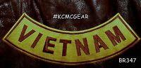 Vietnam Brown On Gold Back Patch Bottom Rocker For Biker Veteran Vest Jacket 10