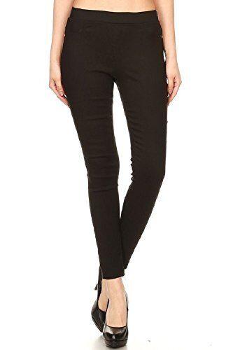 Women High Waist Casual Skinny Pants Stretch Slim Pencil Trousers Leggings US
