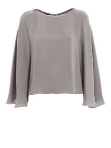 GEORGIO-ARMANI-Women-039-s-Blouse-Gray-AUTHENTIC-Made-in-Italy-Size-42-MSRP-1295