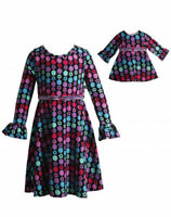 Dollie Me Girl 4-14 And Doll Matching Floral A Line Dress Clothes American Girl