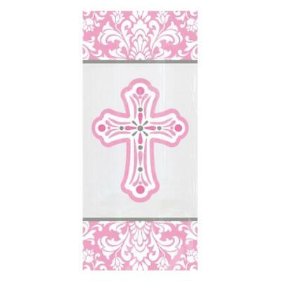 20 x Pink Cross Cello Gift Bags Girls Confirmation Communion Christening Party