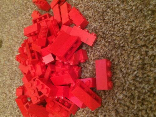 10 x LEGO RED Bricks 1x3 Pieces Parts LOT FAST FREE UK POSTAGE