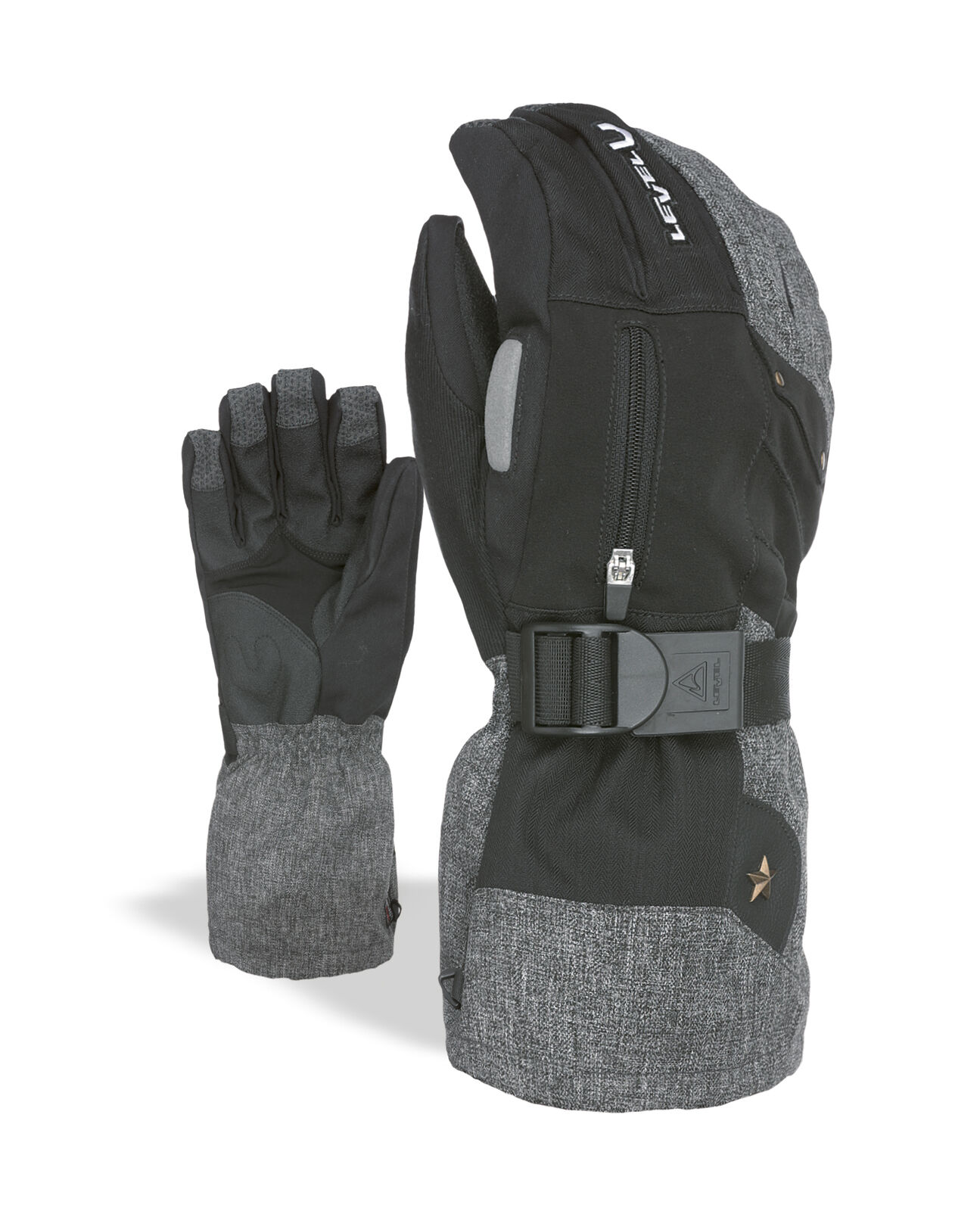 Level Guantes Star black Impermeable Transpirable