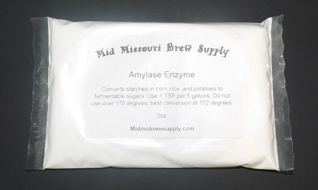s l1600 AMYLASE ENZYME 2oz. Starch Conversion, Home Brew Wine Moonshine Beer