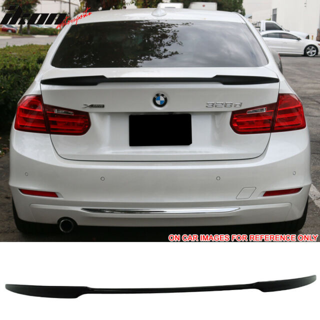 For 12-20 BMW F80 M3 F30 V Style Trunk Spoiler Painted Black Sapphire Metallic