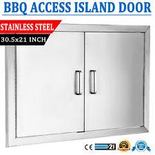 "BBQ ISLAND 304 STAINLESS STEEL 29/"" DOUBLE WALLED ACCESS DOOR OUTDOOR KITCHEN"