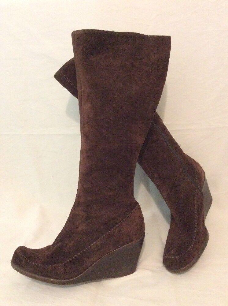 Aerosoles Dark Brown Knee High Suede Boots Size 7