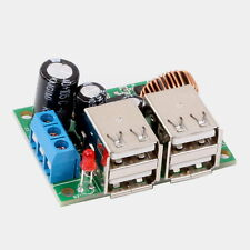 4 USB Car Charger Step-Down DC 12V to 5V Power Supply Module for Phone Table PC
