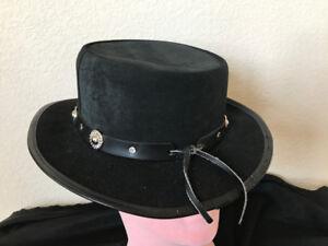 Winfield Medallón De Gamuza Negra Cubierta Co Vintage Cuero vaquero ... be37f3356bc