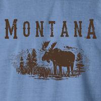 Montana Moose Men's Blue Jean T-shirt Med Lg Xl 2x 3x