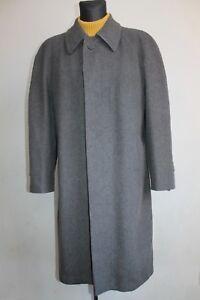 Vtg-Mens-Overcoat-Wool-amp-Cashmere-Long-Coat-Grey-Winter-Loden-Size-EU-52-UK-42