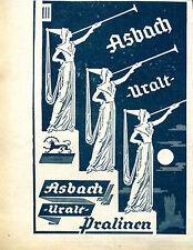 Asbach Uralt -- Pralinen - Werbung von 1929