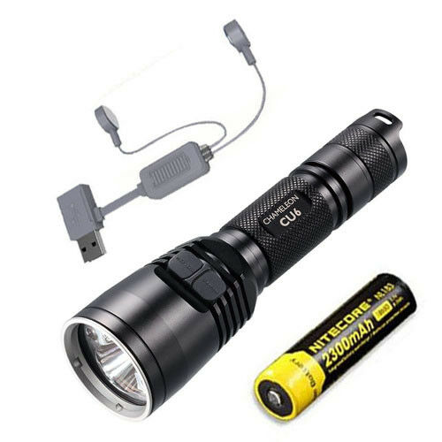 Nitecore CU6  Ultrapurple LED Flashlight - 440Lm w  NL183 Battery + A1 Charger  high quality genuine