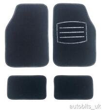 BLACK CARPET NON-SLIP GRIP CAR MAT MATS SET FOR FORD FOCUS FIESTA MONDEO FUSION