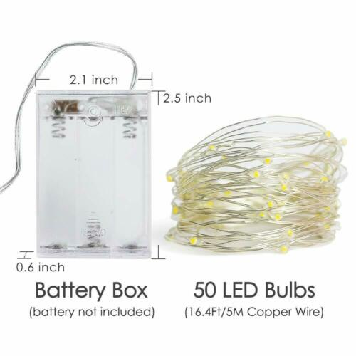 1 Set  5M AA Battery Operated 50 LED String Fairy Lights Perfect Holiday