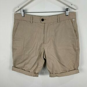 Industrie-Mens-Chino-Shorts-34-Beige-Pockets