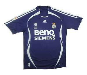 REAL MADRID 2006-07 Authentic THIRD SHIRT (eccellente) M SOCCER JERSEY