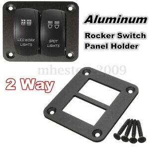 image is loading car boat aluminum 2 way rocker switch panel