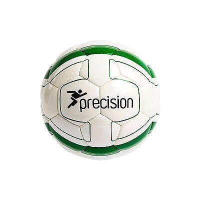 SET OF 5 PRECISION CORDINO MATCH FOOTBALL WHITE//SILVER//BLACK SIZES 3 /& 4