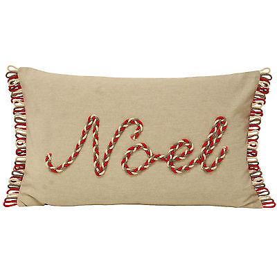 Paoletti Nicholas Noel Embroidered Christmas Cotton 30x50cm Cushion Cover