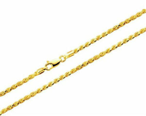 10k-Yellow-Gold-Necklace-Gold-Rope-Chain-16-18-20-22-24-26-28-30