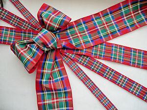 Cut Lengths Royal Stewart Tartan Berisfords Woven Edge Ribbon Sewing