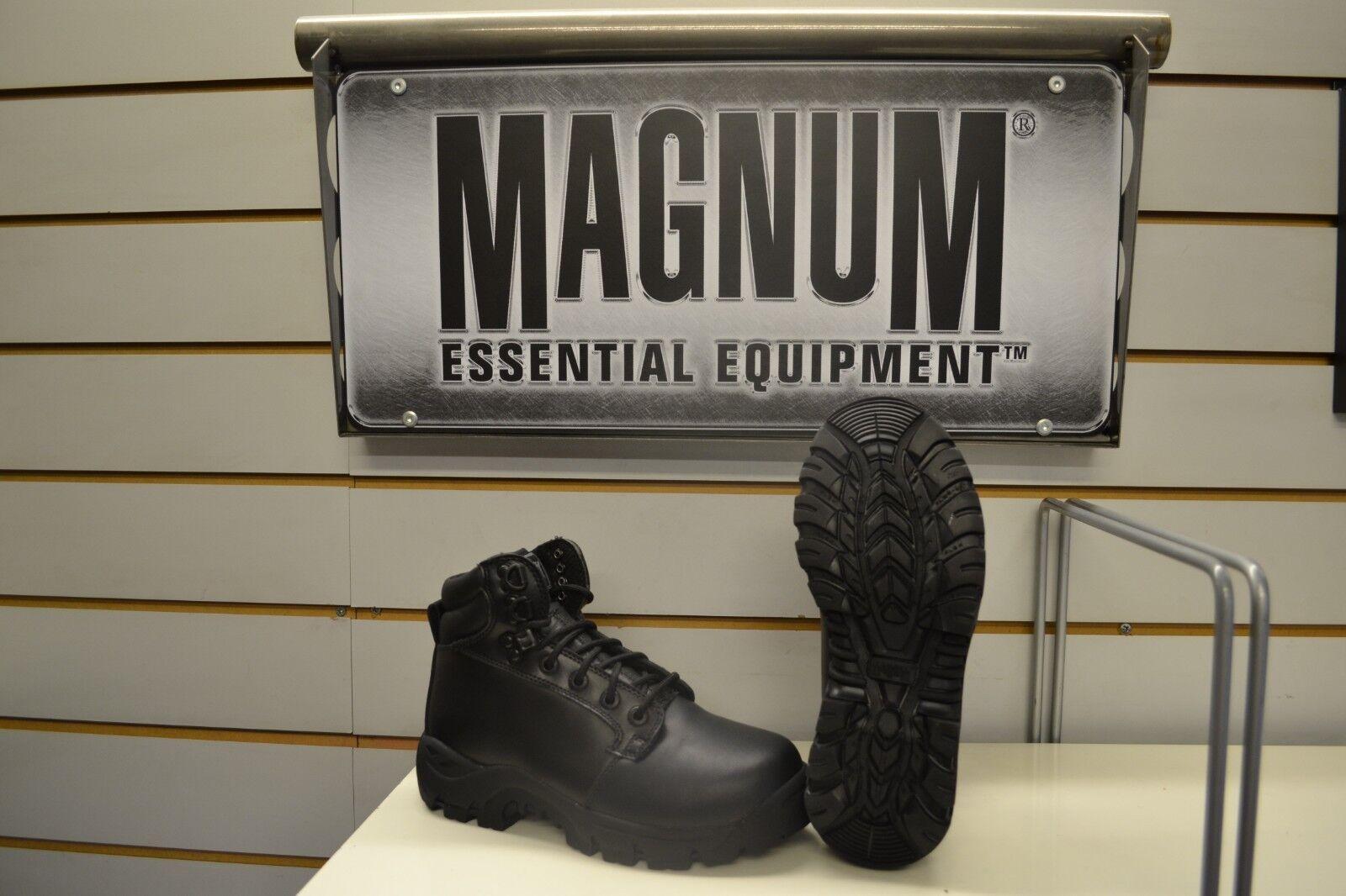 Magnum Patrol ST Black Leather Steel Toe Safety Boots UK 3.5 EU 36 Deadstock
