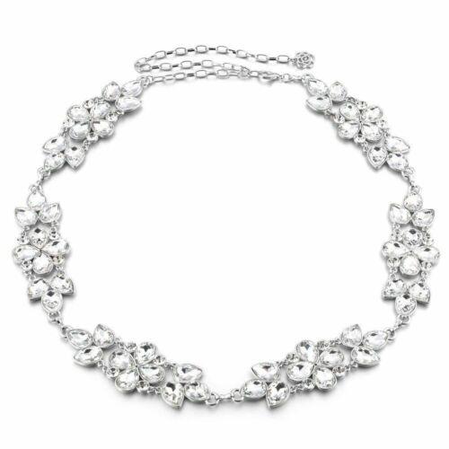 Ladies Diamante Silver Rainbow Crystals Chain Belt Girls Fashion Charm Waistband