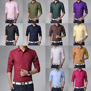 5cd1756b3 Elegant Men's Slim Cotton Blend Long Sleeve Stand Collar Tight T ...