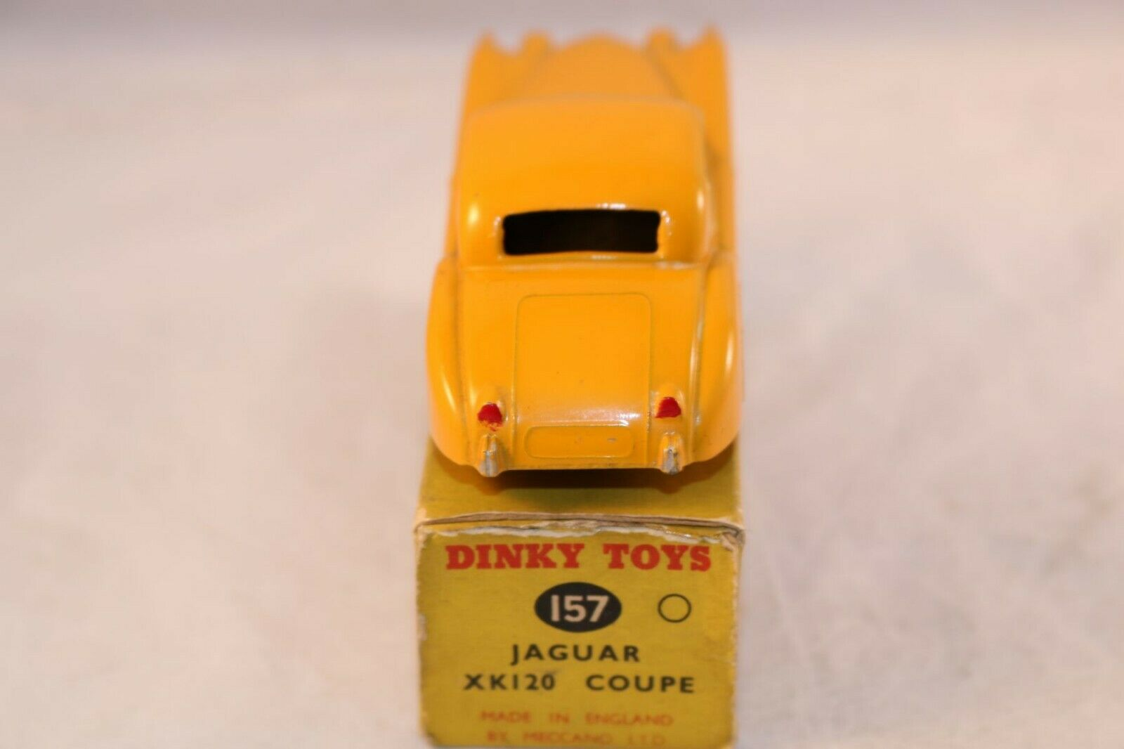 Dinky Toys 157 Jaguar XK120 Coupe yellow yellow yellow very near mint in box all original e4a1d7