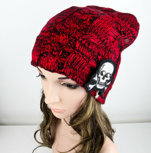 Ladies Thick Knitted BAGGY BEANIE Winter Warm Hat Women Girl T3
