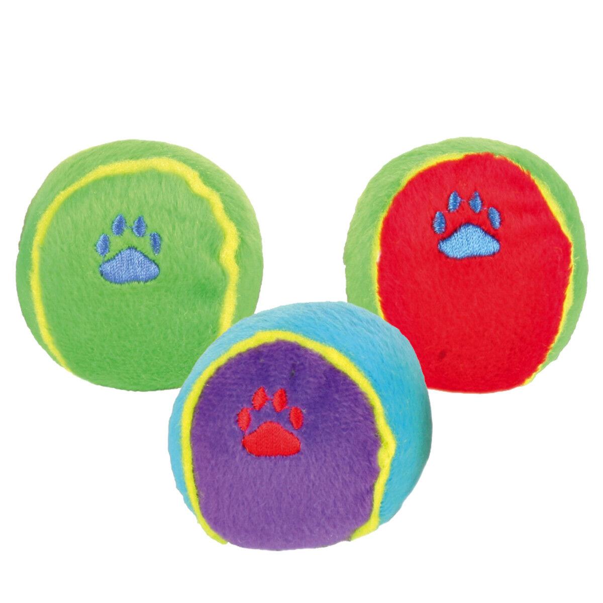 TRIXIE Sortiment Spielbälle, Plüsch Balle für Hund Plüschtier mit Stimmt 3605    Spielzeugwelt, fröhlicher Ozean