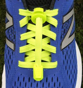Flat-Lace-Elastic-Sport-Shoelaces-Lock-Laces-No-Tie-Triathlon-Running-Jogging