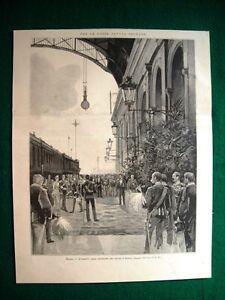 Roma-nel-1895-L-039-arrivo-alla-stazione-dei-Duchi-d-039-Aosta