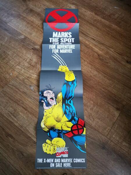 1991 Marvel X Segna Il Punto Di Azione X-men Promo Poster Al Dettaglio 90cm X 20cm Prestazioni Affidabili
