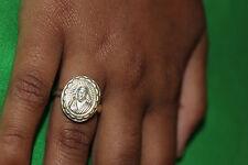 Sri Shirdi Sai Baba Sterling Silver Ring - Design- Size 7.5