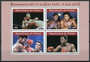Chad-2019-MNH-Muhammad-Ali-4v-M-S-I-Famous-People-Boxing-Sports-Stamps