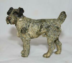Vintage-Vienna-Bronze-Wire-Haired-Fox-Terrier-Dog-Figurine-Austria