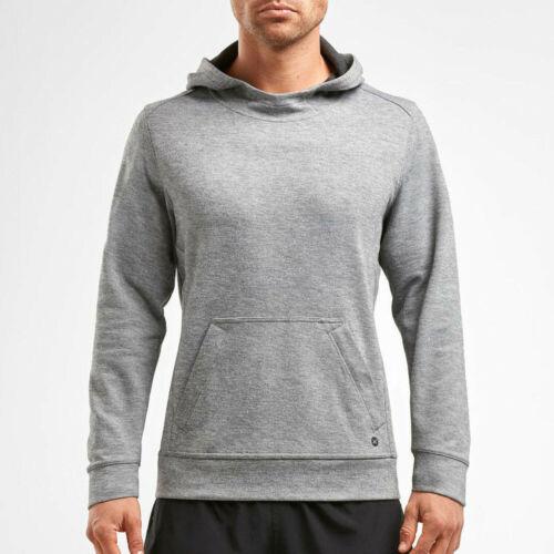 2XU Mens URBAN Pullover Hoodie Grey Sports Gym Hooded Warm Breathable