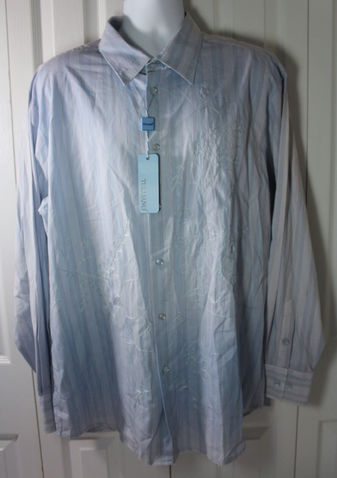 Tulliano Men's 2XL XXL 100% Cotton Embroidered Shirt NWT MSRP