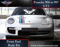 Porsche 911 996 to 997 GT2 Front End Body Kit Conversion