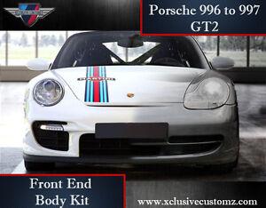 porsche 911 996 to 997 gt2 front end body kit conversion ebay. Black Bedroom Furniture Sets. Home Design Ideas